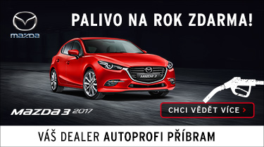 Mazda 3 - palivo na rok zdarma