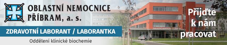 ZDRAVOTNÍ LABORANT / LABORANTKA Oddělení klinické biochemie
