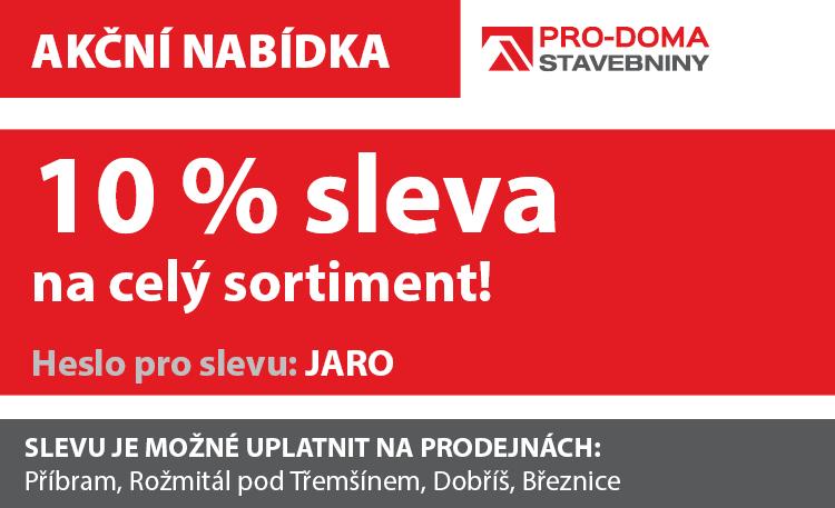 PRO-DOMA - jarní sleva 10%