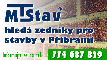 MT Stav hledá zedníky pro stavby v Příbrami.