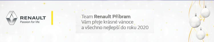 Team Renault Příbram Vám přeje krásné vánoce a všechno nejlepší do roku 2020