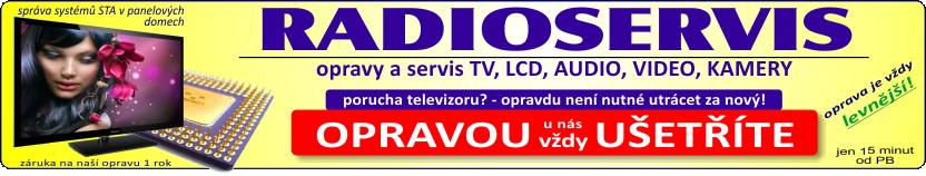 Radioservis - oprava levnější než nová TV